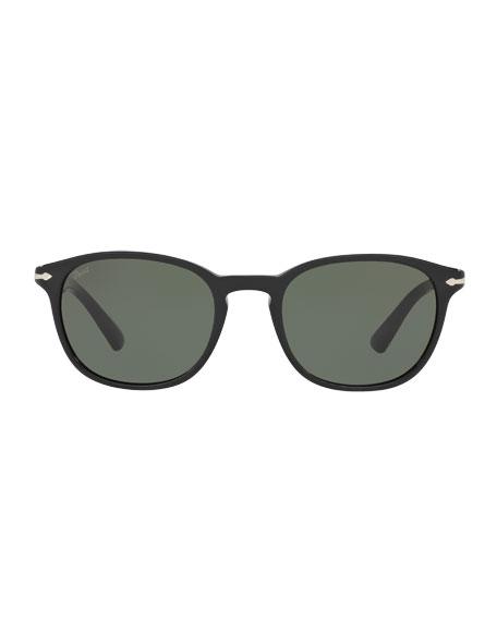 PO3148S Rectangular Acetate Sunglasses