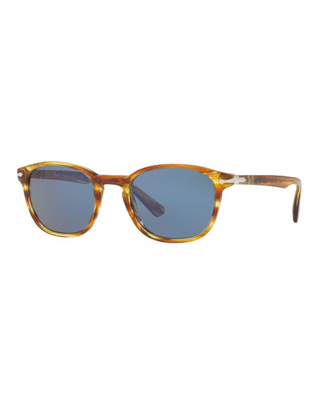 PO3148S Rectangular Acetate Sunglasses