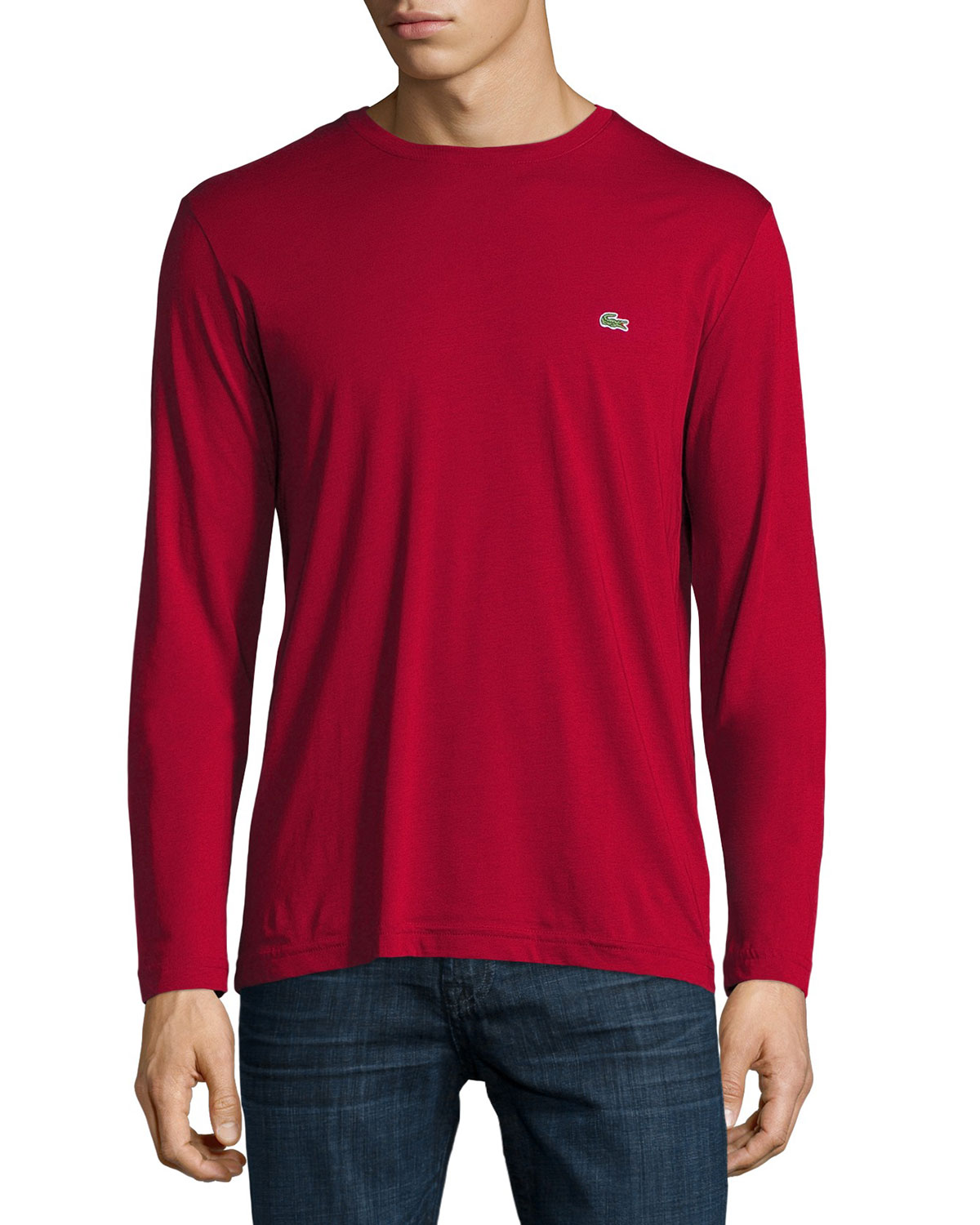 41daf83fa958eb lacoste Three-Pack Pima Cotton Long-Sleeve T-Shirts