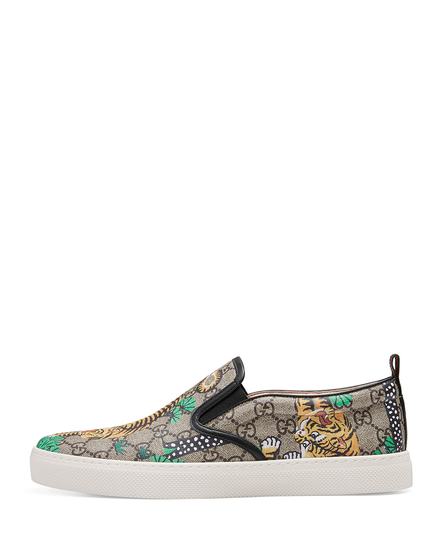 592c5bdef75d Gucci Dublin Bengal GG Supreme Slip-On Sneaker