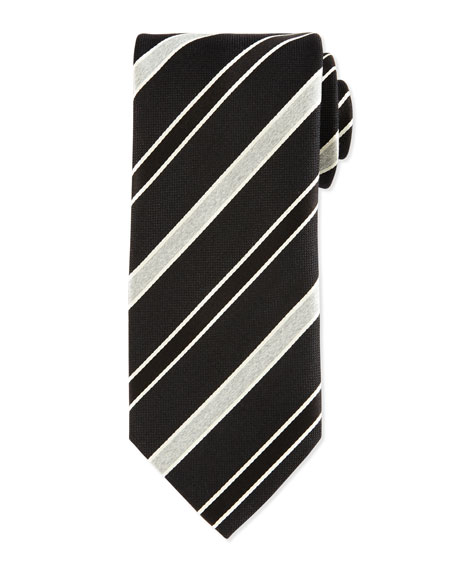 Eton Striped Silk Satin Tie