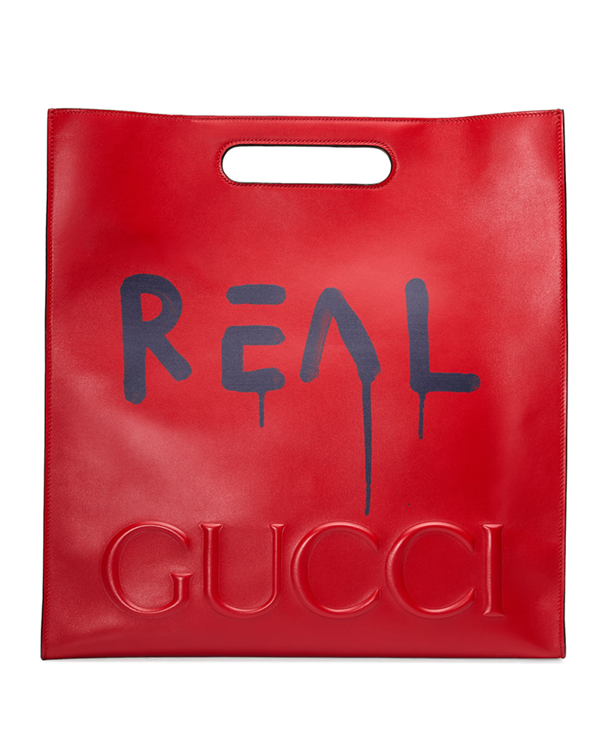 6938d7dd2 Gucci GucciGhost Large Leather Tote Bag