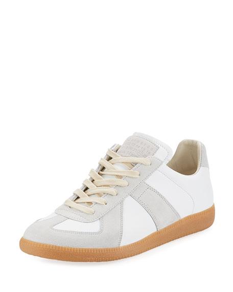 Maison Margiela Replica Leather & Suede Low-Top Sneaker