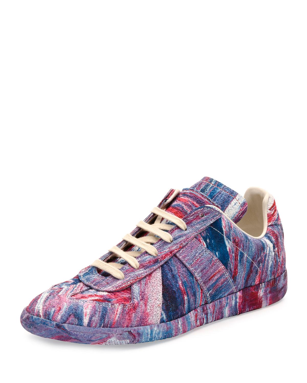 b1f6029dd7e Maison Margiela Replica Low-Top Tie-Dye Rubber Sneaker