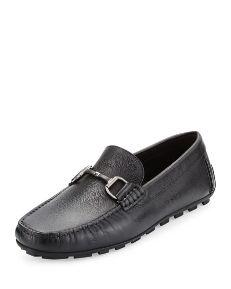Leather Bit-Strap Driver, Black