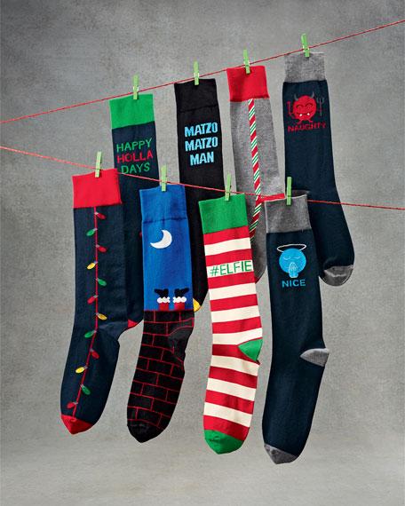 Christmas Lights Crew Socks