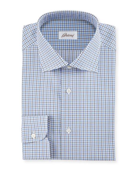 Brioni Check Woven Dress Shirt