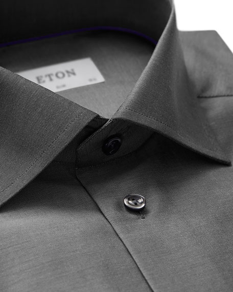 Slim-Fit Twill Dress Shirt