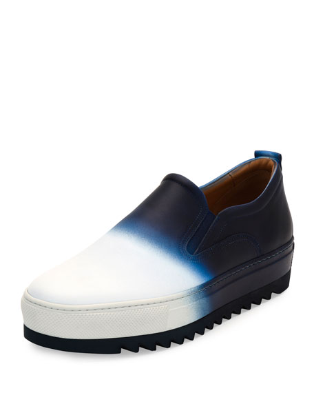 Salvatore Ferragamo Dégradé Calfskin Sneaker with