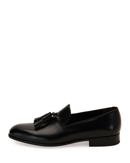 Forever Calfskin Tassel Loafer, Black