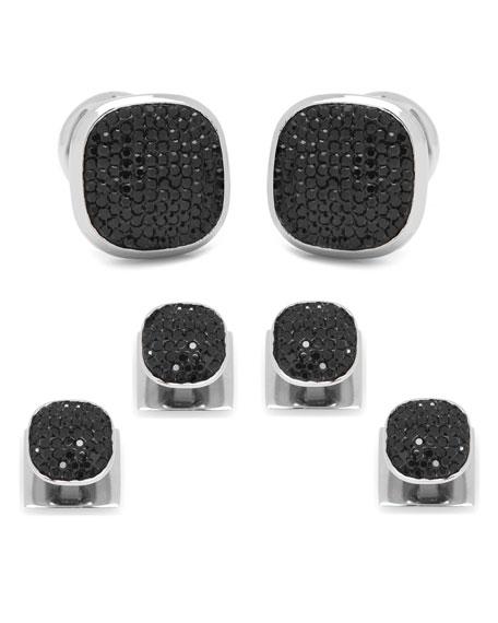 Cufflinks Inc. Black Preciosa Pave Cuff Links &
