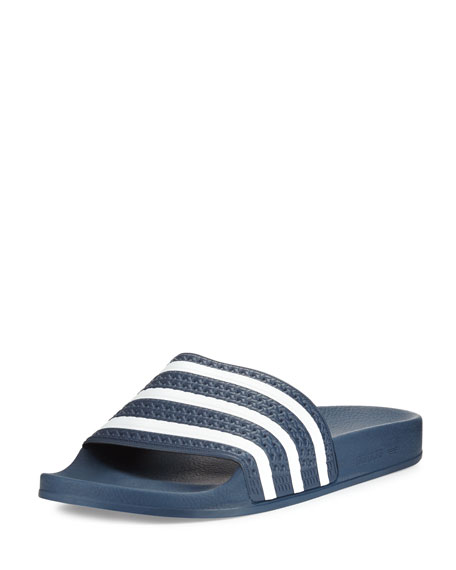Adidas Men's Adilette 3 Rubber Slide, Navy