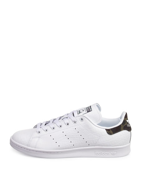Men's Stan Smith Original Sneaker w/Camo Patch, White
