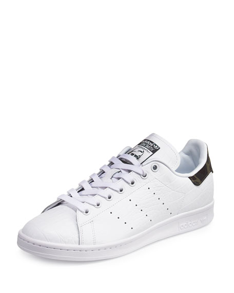 Adidas Men's Stan Smith Original Sneaker w/Camo Patch,