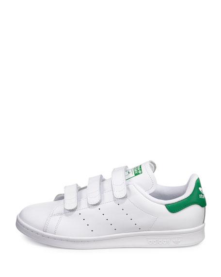 Men's Stan Smith Triple-Strap Sneaker, White/Green