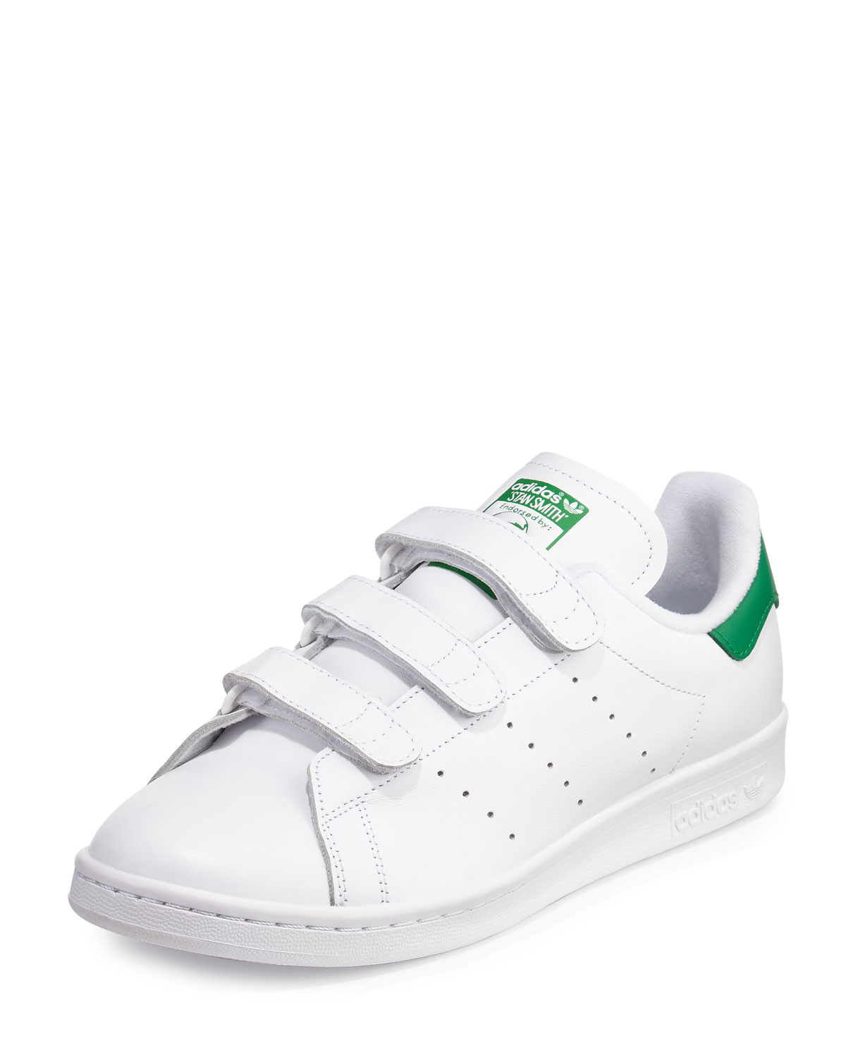 on sale 321a3 1182d Men's Stan Smith Triple-Strap Sneaker, White/Green