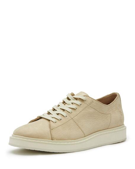 Frye Men's Mercer Leather Low-Top Sneaker, White