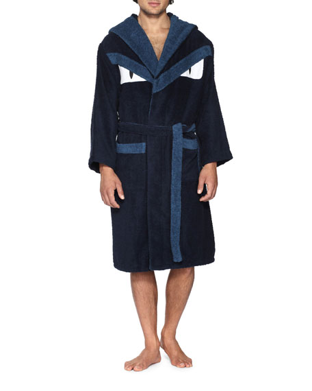 Terry Cloth Monster Robe, Blue