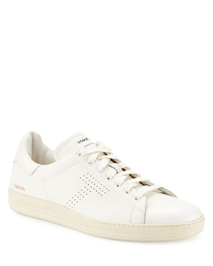 77324ab7cfc74a TOM FORD Men s Warwick Grained Leather Low-Top Sneakers