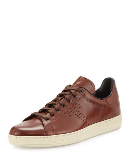 Men's Warwick Leather Low-Top Sneakers, Brown