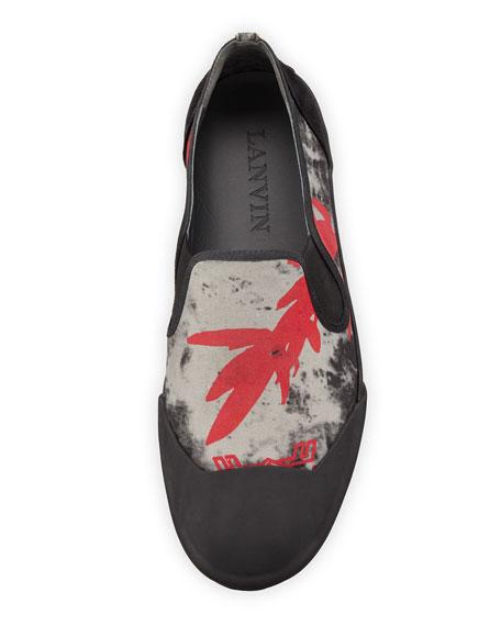 Men's Printed Canvas Slip-On Sneaker
