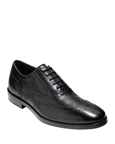 Cole Haan Hamilton Grand Wing-Tip Oxford, Black