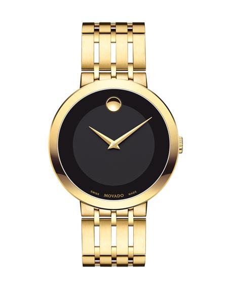 Movado 39mm Esperanza Watch, Gold | Neiman Marcus