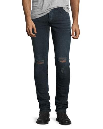 Fit 1 Skinny Denim Jeans, Dark Blue