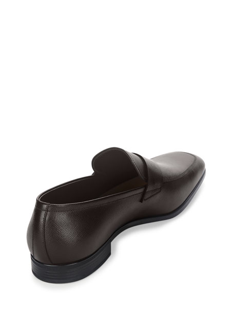 Saffiano Leather Penny Loafer