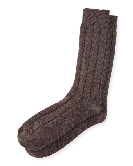 Men's Ribbed Cashmere Socks
