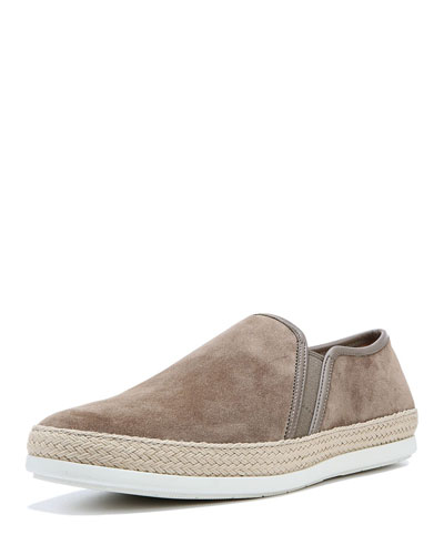 Chalmers Suede Espadrille Slip-On Sneakers, Gray