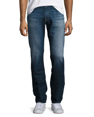 Graduate Straight-Leg Denim Jeans, Blue