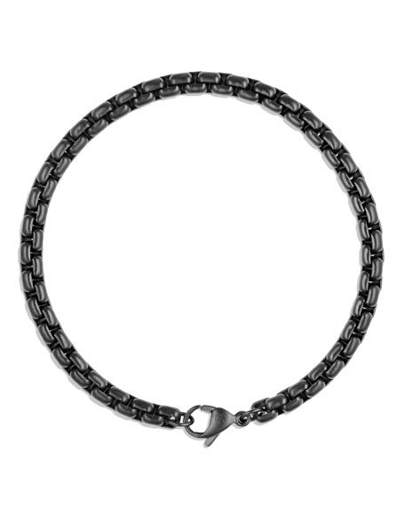 PVD-Coated Box-Chain Bracelet