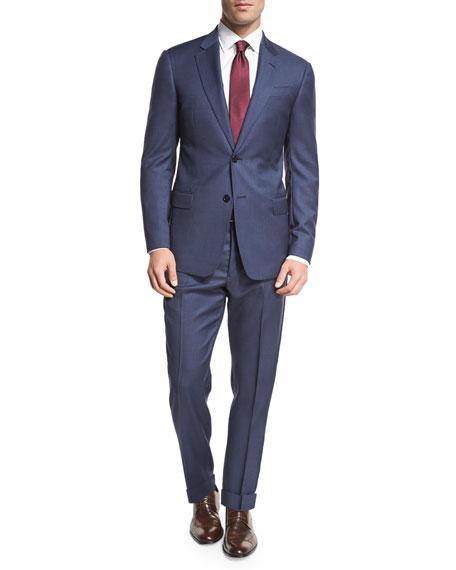 Armani Collezioni Birdseye Two-Piece Suit, Navy