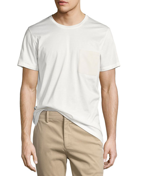 Berluti Leather-Pocket Cotton Jersey T-Shirt