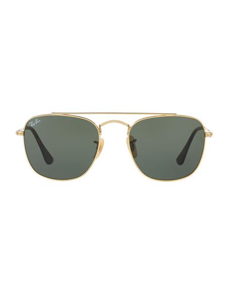 Men's Square Double-Bridge Sunglasses