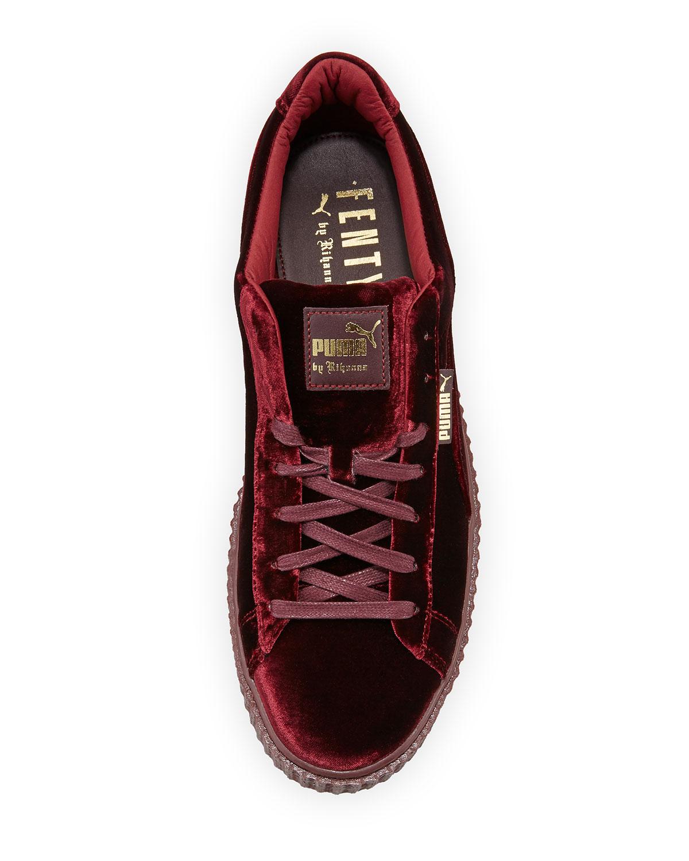 sports shoes 583f5 67f2d Men's Velvet Creeper Sneakers, Dark Red