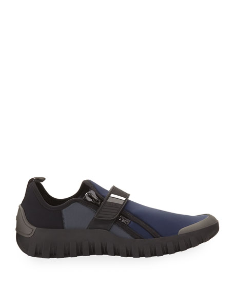 Men's Neoprene Scuba Sneakers, Navy/Black