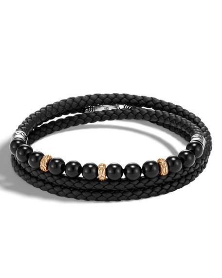 John Hardy Mens Legends Triple-Wrap Leather Bracelet k5jLA5