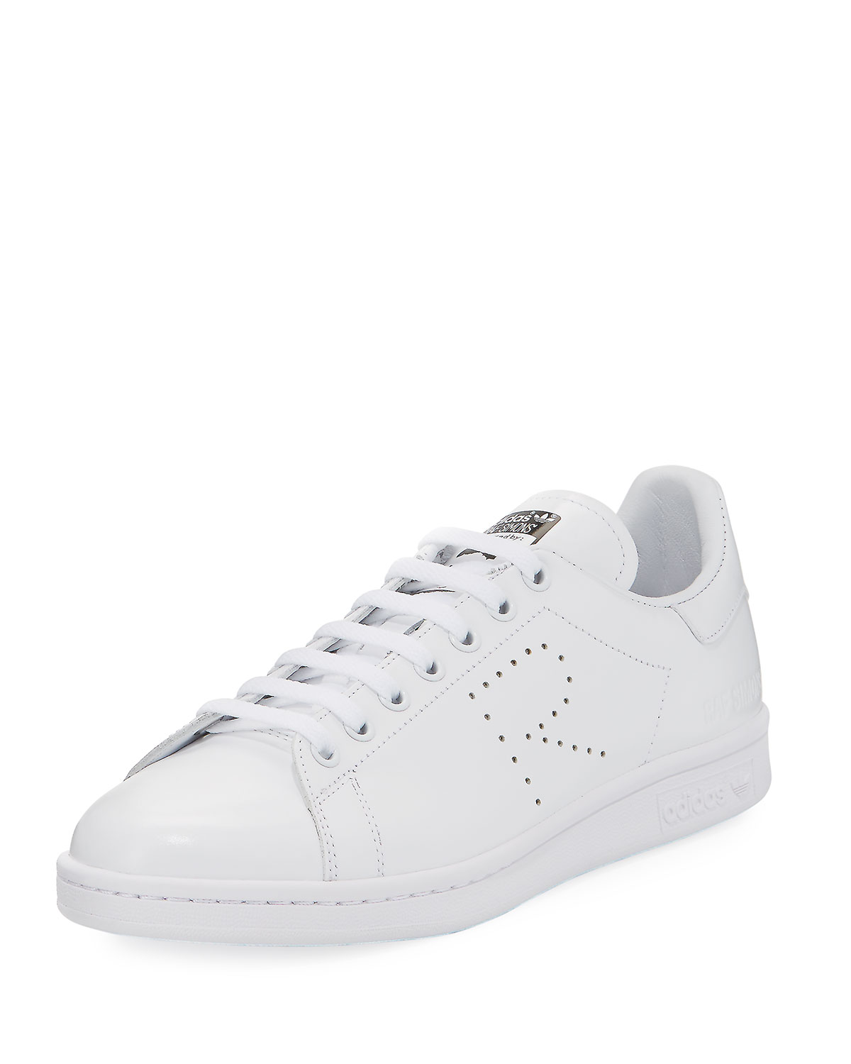 buy popular bf3d4 6fd29 adidas by Raf SimonsMen s Stan Smith Leather Low-Top Sneaker, White
