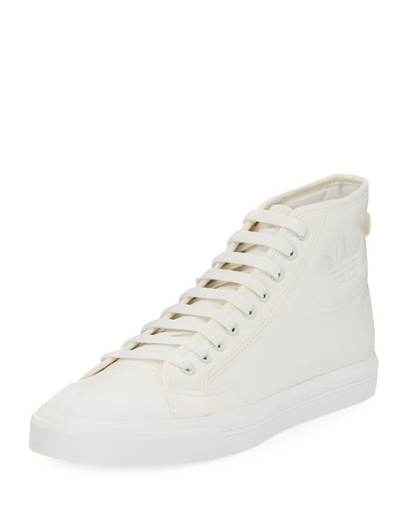 Men's Spirit Canvas High-Top Sneakers, Beige