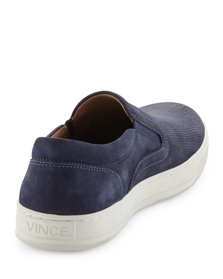 Ace Embossed Leather Slip-On Sneaker