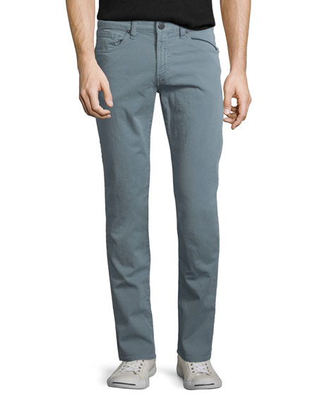 J Brand Tyler Slim-Straight Jeans, Dusty Blue