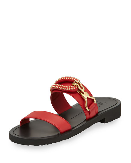 Giuseppe Zanotti Men's Gomzak New Hook Slide Sandal,