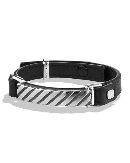 David Yurman Modern Cable ID Bracelet in Black