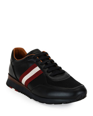 60928f7d86e8 Bally Men s Leather Trainer Sneakers w Trainspotting Stripe