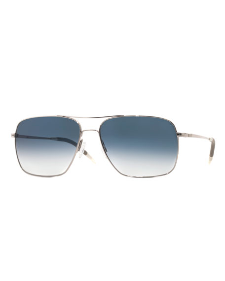 Oliver Peoples Clifton Photochromic Square Aviator Sunglasses
