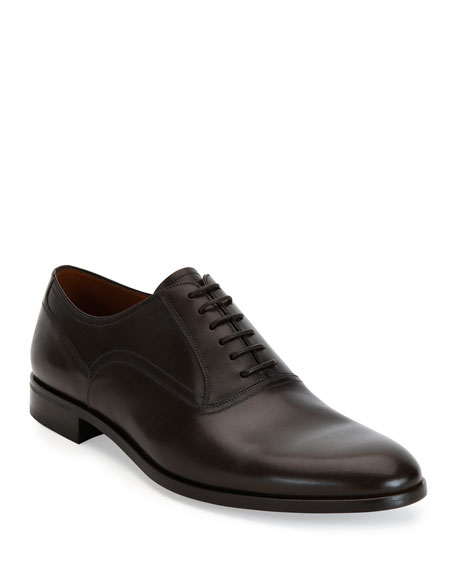 Bally Bruxelles Leather Oxford Dress Shoe, Black