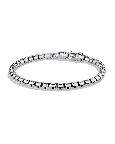 David Yurman Men's 5mm Sterling Silver Large Box
