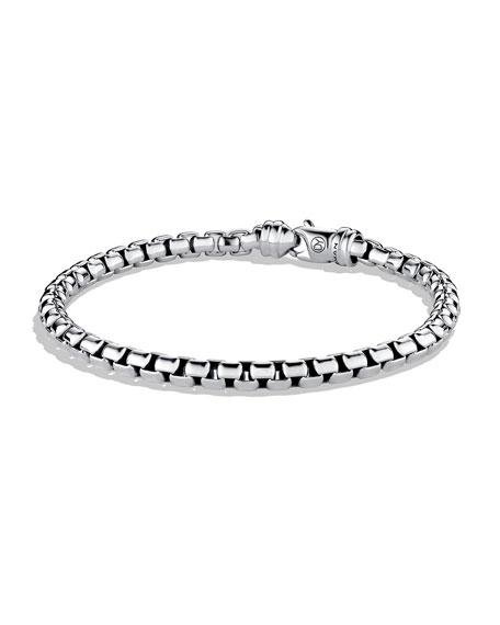 David Yurman Men S 5mm Sterling Silver Large Box Chain Bracelet Neiman Marcus